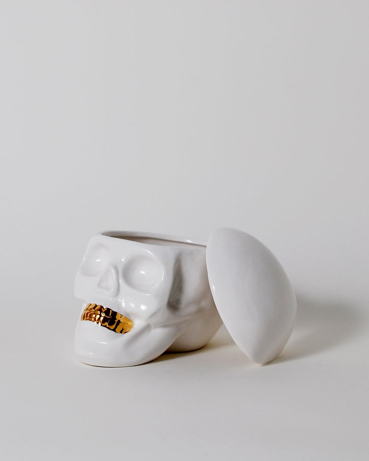 The Oracles Human Skull Jewelry Holder