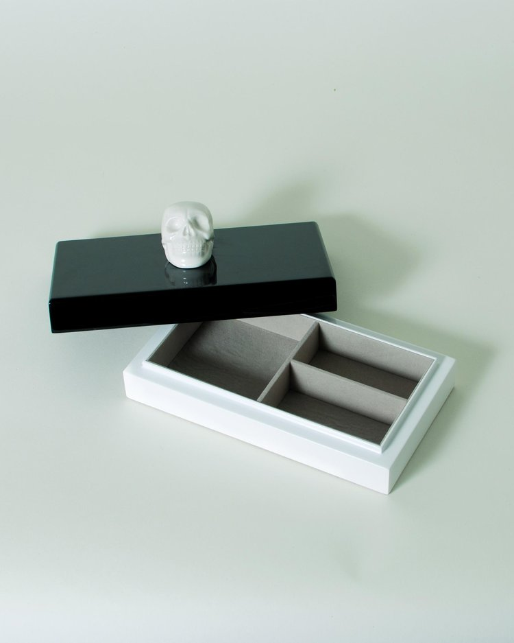 The Oracles Ceramic Skull Lacquer Jewelry Box