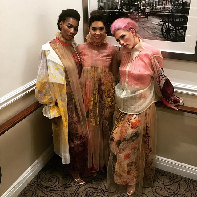 My amazing models backstage @ fashions finest! ❤️ Had such a fun night showing my collection at @fashionsfinestuk London Fashion Week show which celebrated diversity on the catwalk last Sunday!! 💕✨ - #fashionsfinestuk #lfw18 #fashion #vogue #textiles #printdesign #london #ffs19lfw
