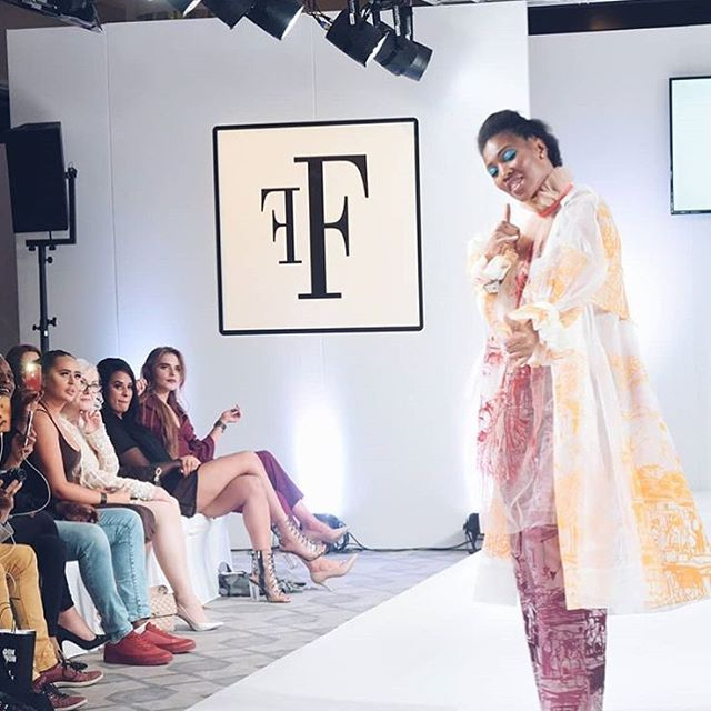 Had such a fun night showing my collection at @fashionsfinestuk London Fashion Week show which celebrated diversity on the catwalk last Sunday!! 💕✨ - #fashionsfinestuk #lfw18 #fashion #vogue #textiles #printdesign #london #ffs19lfw