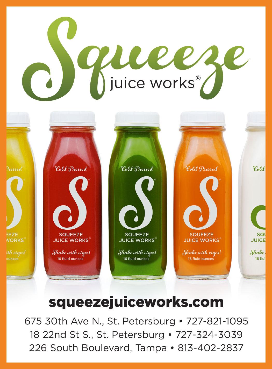 Squeeze Juice Works advertisement
