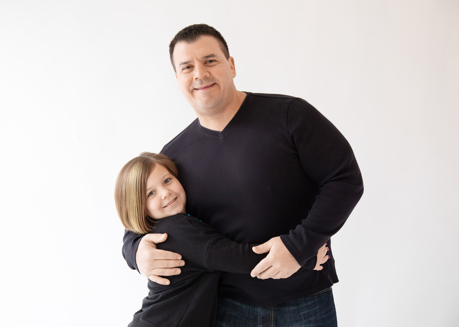 houston family photography studio father daughter portrait