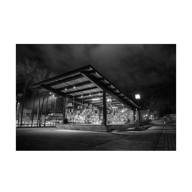 Got a nice little bus stop . . . . . #artistsoninstagram #ritphoto #darkaesthetic #ritphoto #guerrillaarts #blackandwhitephotography #architecturephotography #hdr #hdrphotography #greatfuckingart