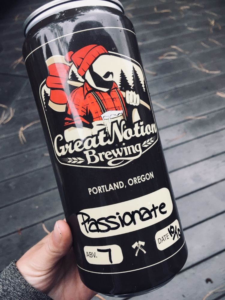 From Portland, Oregon: Great Notion Brewing's Passionate IPA in a convenient travel Crowler