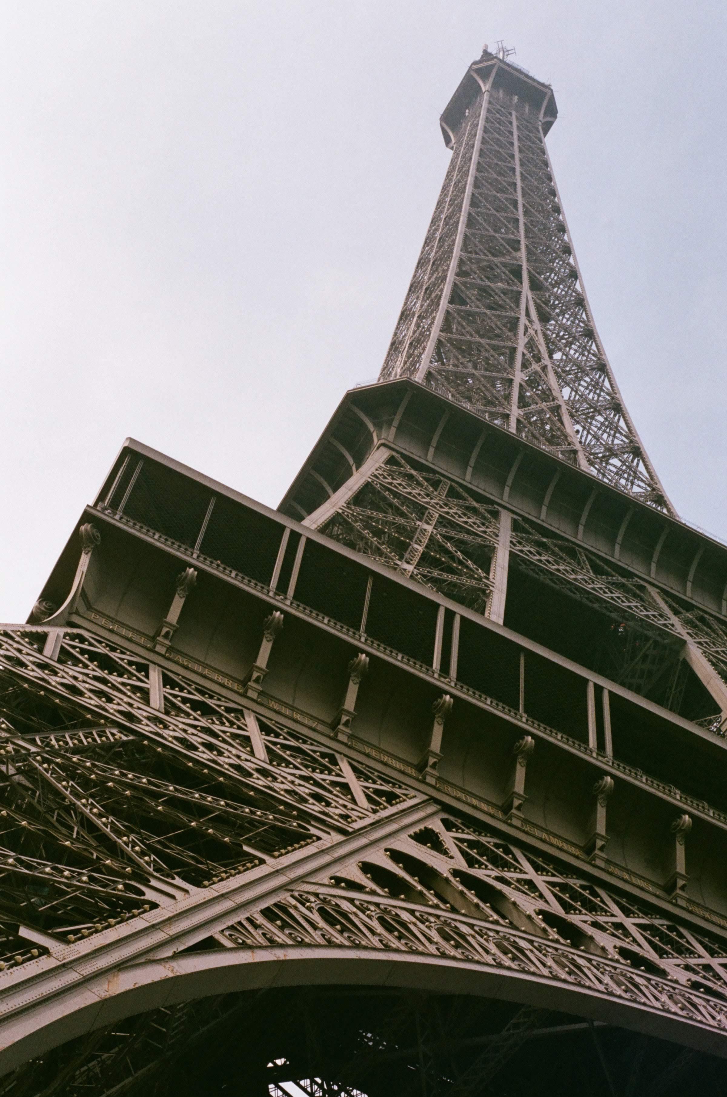 Wide angle shots of the Eiffel Tower taken on my Minolta were lost.