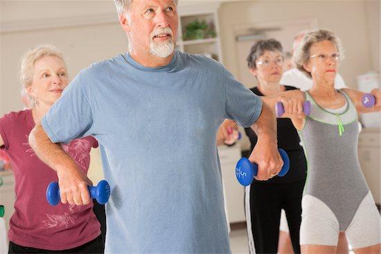 senior citizens physical fitness class