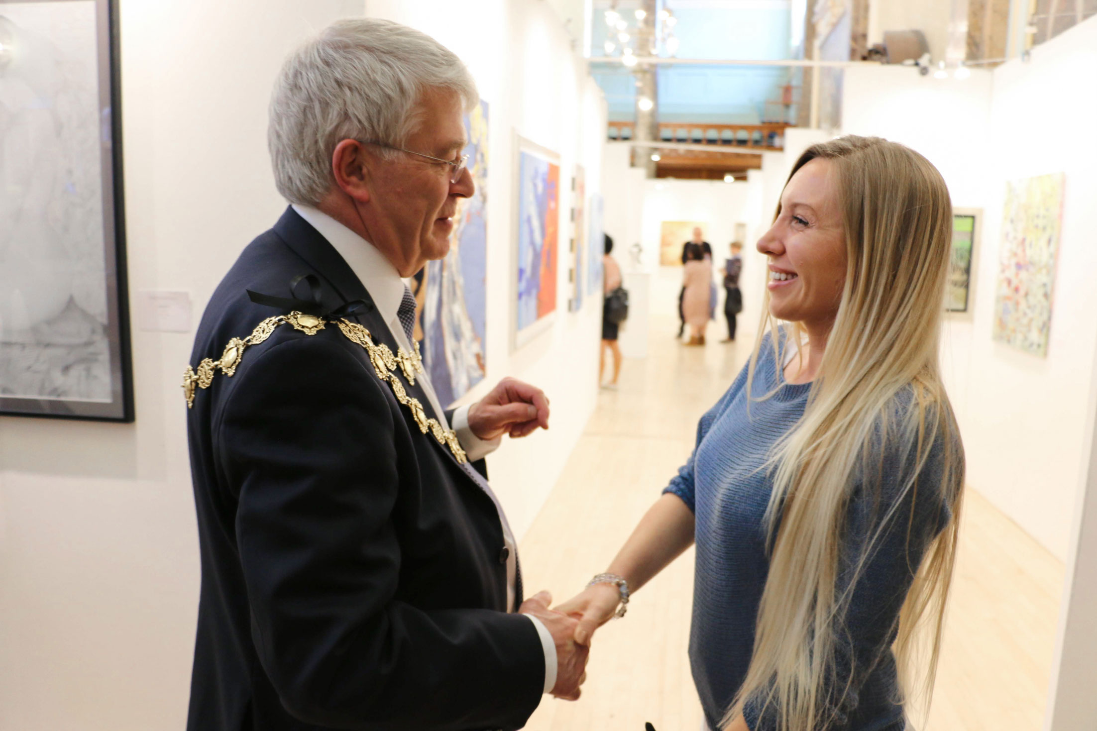 Helena Jay with the Mayor - London Biennale 2019