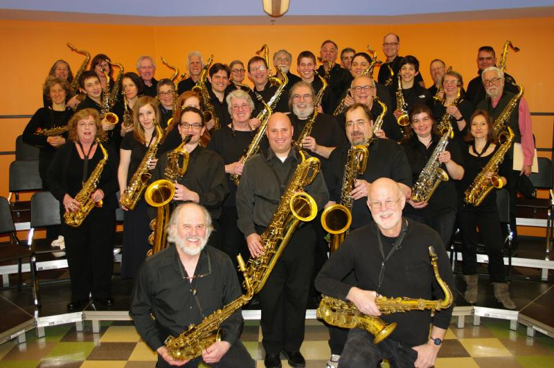 The John Payne Music Center Saxophone Choir (1980-2012), under the direction of Duncan Martin, brought students of all skill levels together to experience the joys of collaborative music making.