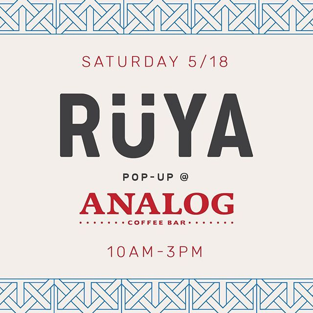 WE'RE BACK AT IT!!👏🏽There are 7 billion people in this world & we are all connected by 1 thing. And it's not the freakin internet. It's gathering around food & drink. Rüya Turkish coffee, chocolate & pastries on deck - MAY 18th at @carabelloanalog 🤗 See ya there!