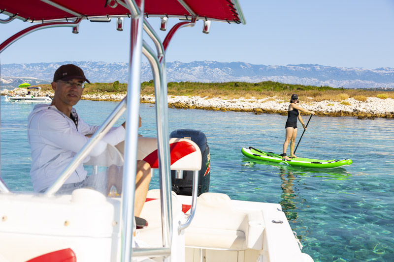 Standup Paddling the crystal clear waters
