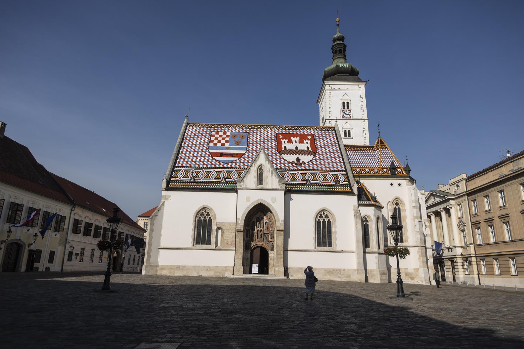 Saint Marks Church in Zagreb city center