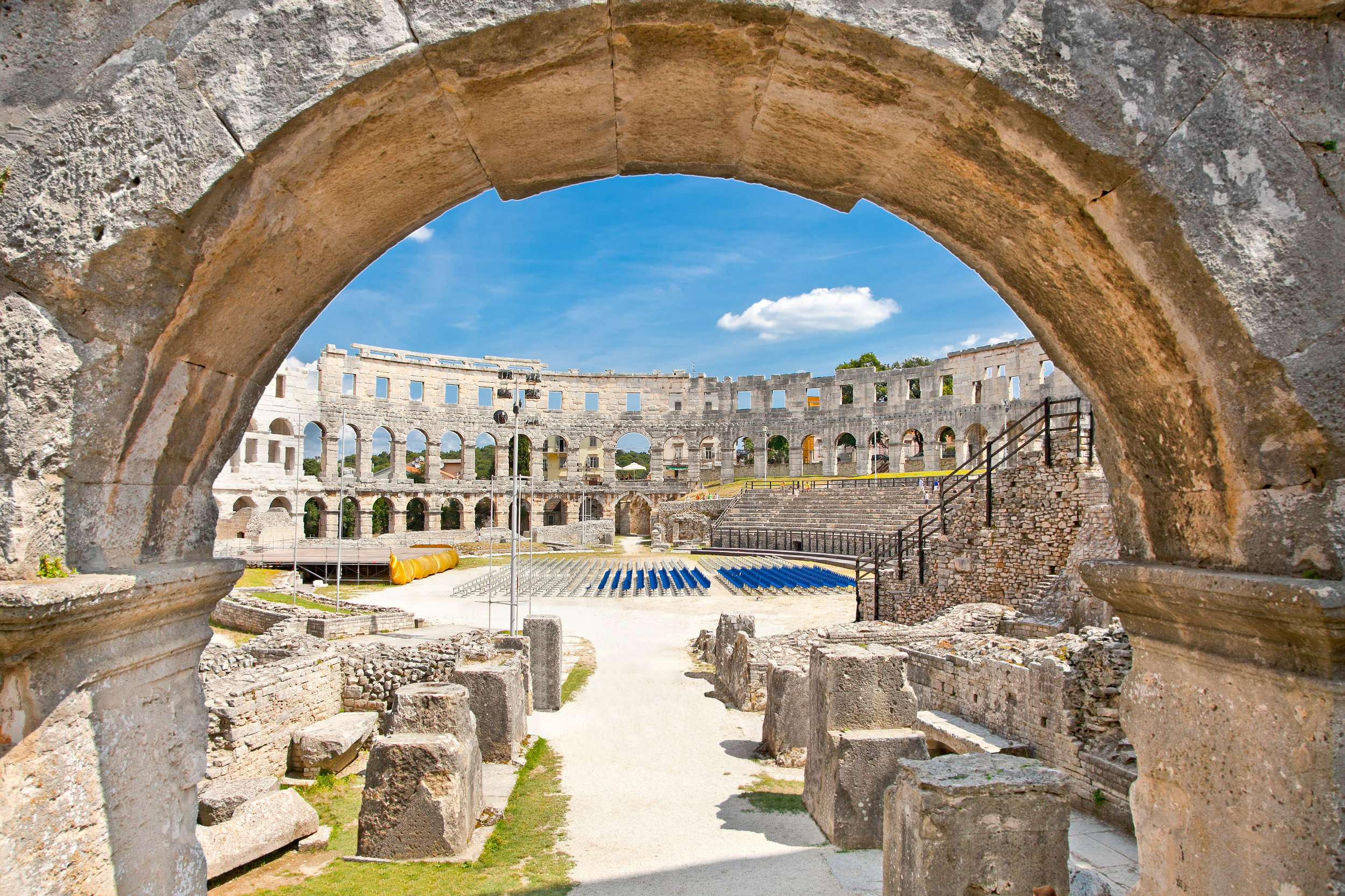 Ancient Gladiator Coliseum in Pula town