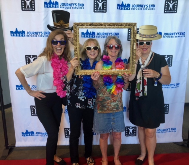 Having fun on the red carpet at our Global VIP Reception, part the WNY Refugee Film Festival Grand Finale.