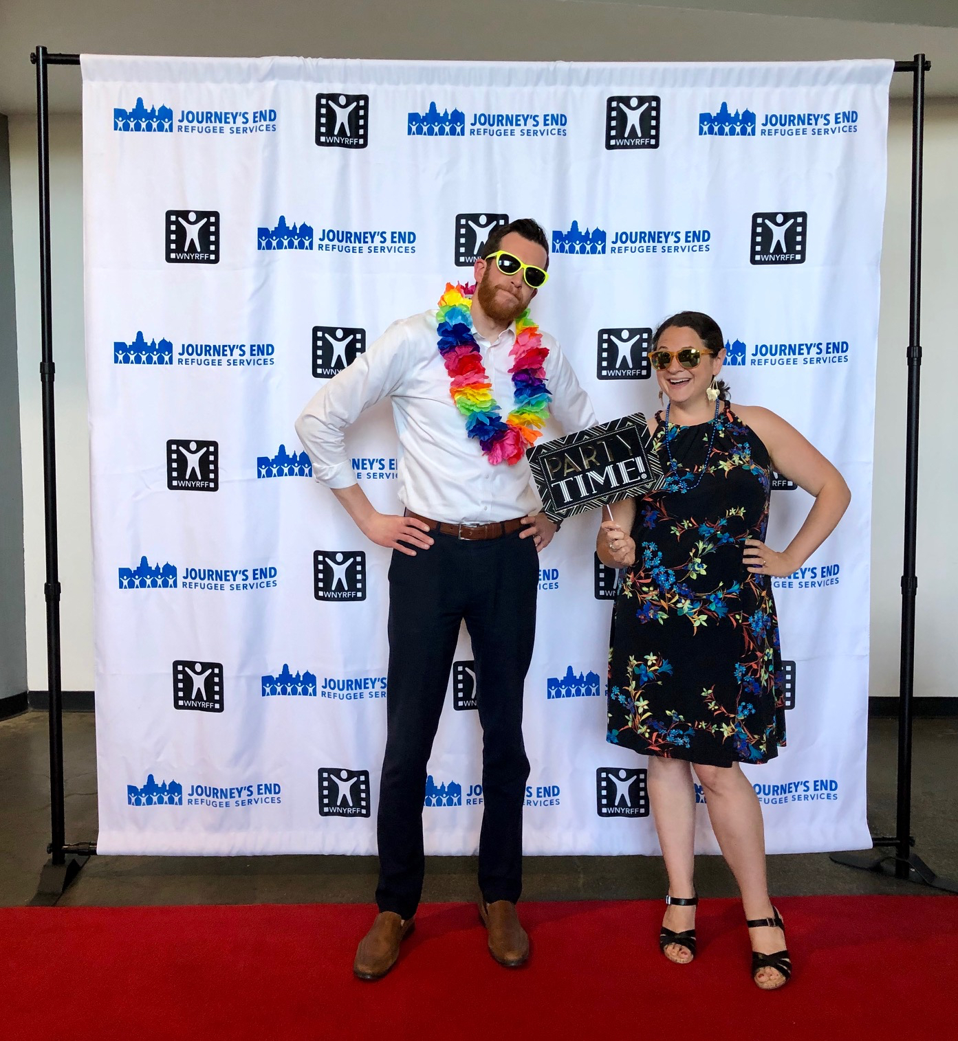 More fun on the red carpet with JERS Board member Pat McNally and JERS Executive Director Karen Andolina Scott!
