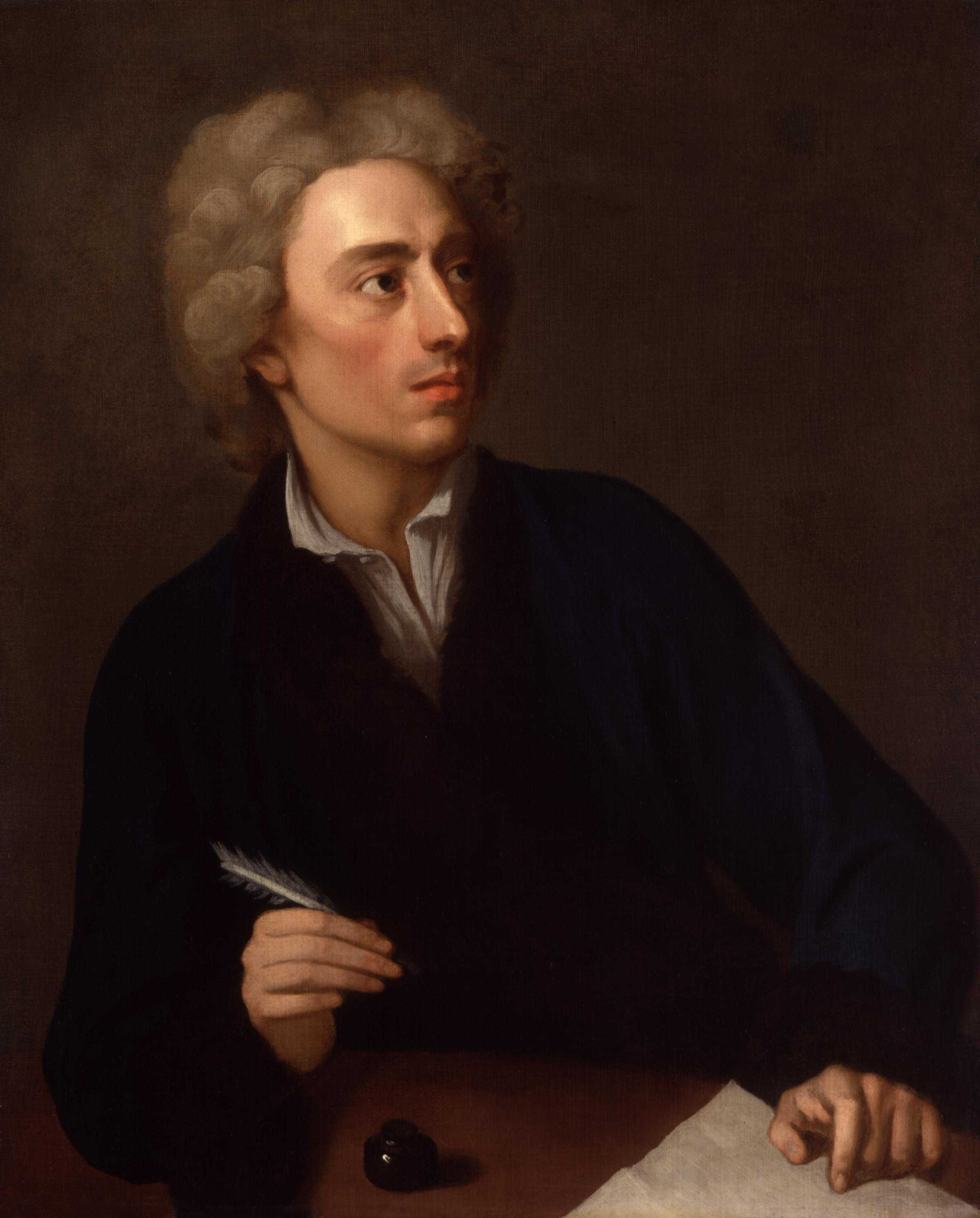 Alexander Pope probably dreaming up some of these romantic verses.