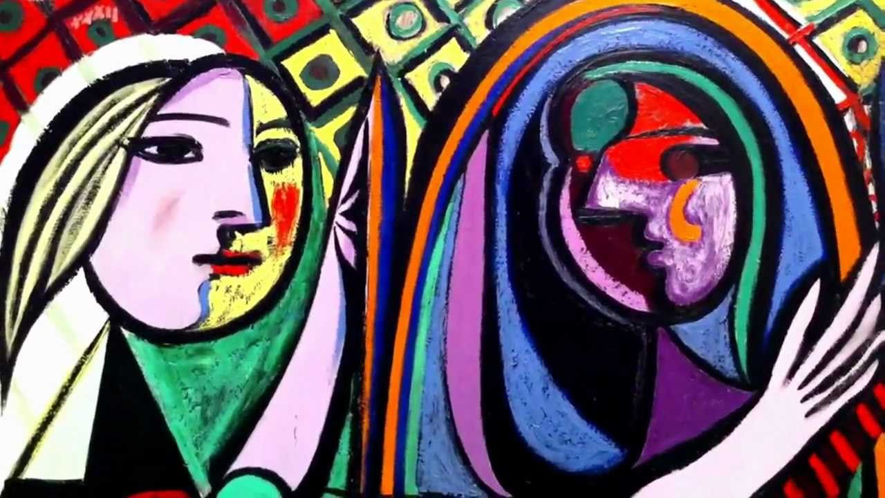 """Pablo Picasso, """"Girl Before a Mirror,"""" 1932. Oil on canvas. (Detail). 'Cause it's like you're my mirror.  My mirror staring back at me…"""