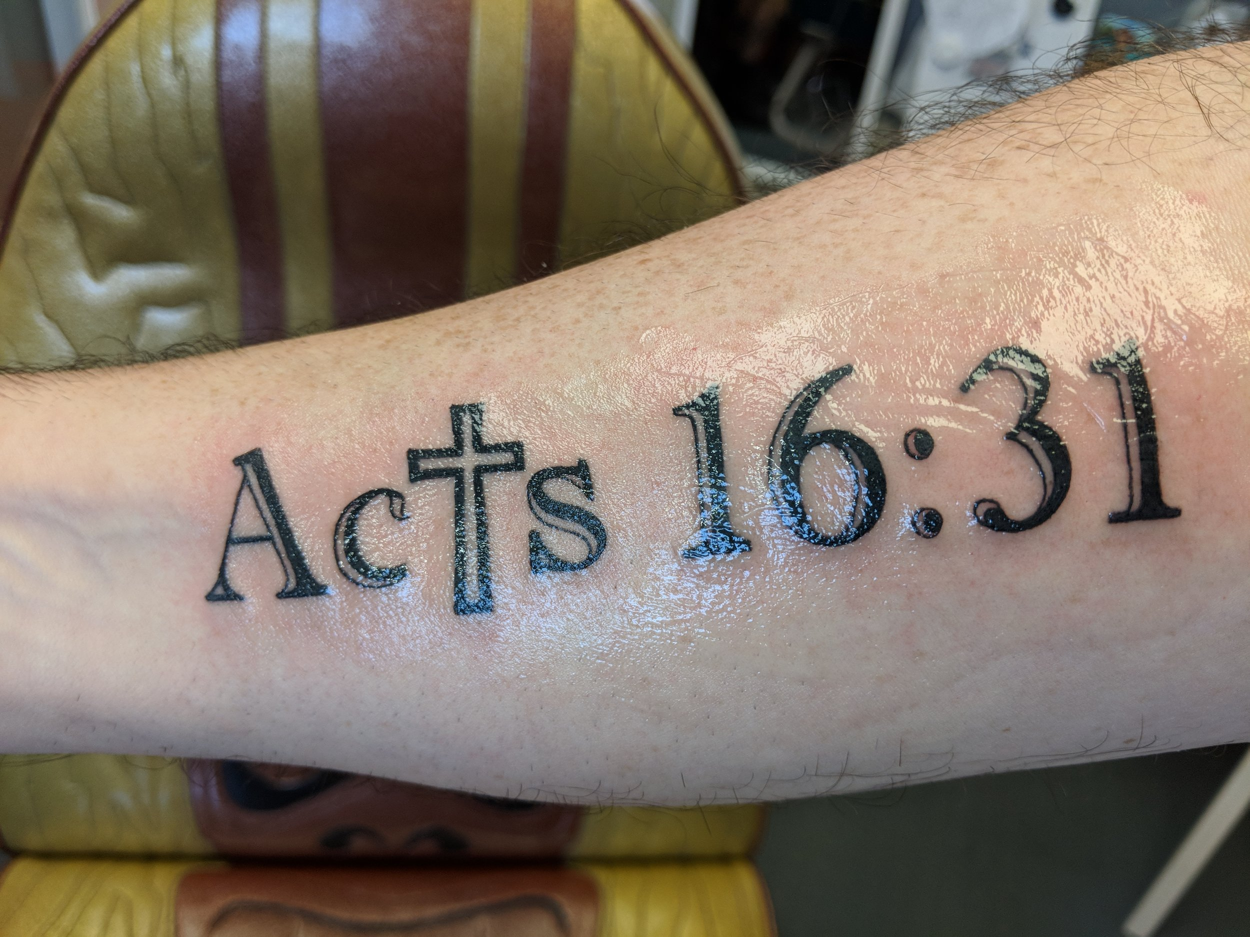 In this episode I begin the story of my new tattoo, what it means and how that passage impacted my relationship with God. -