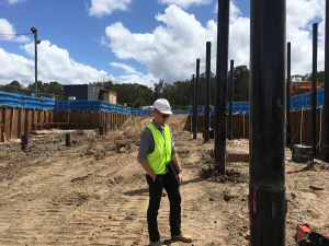 MPN Project Engineer Will Messer reviewing the progress on site.