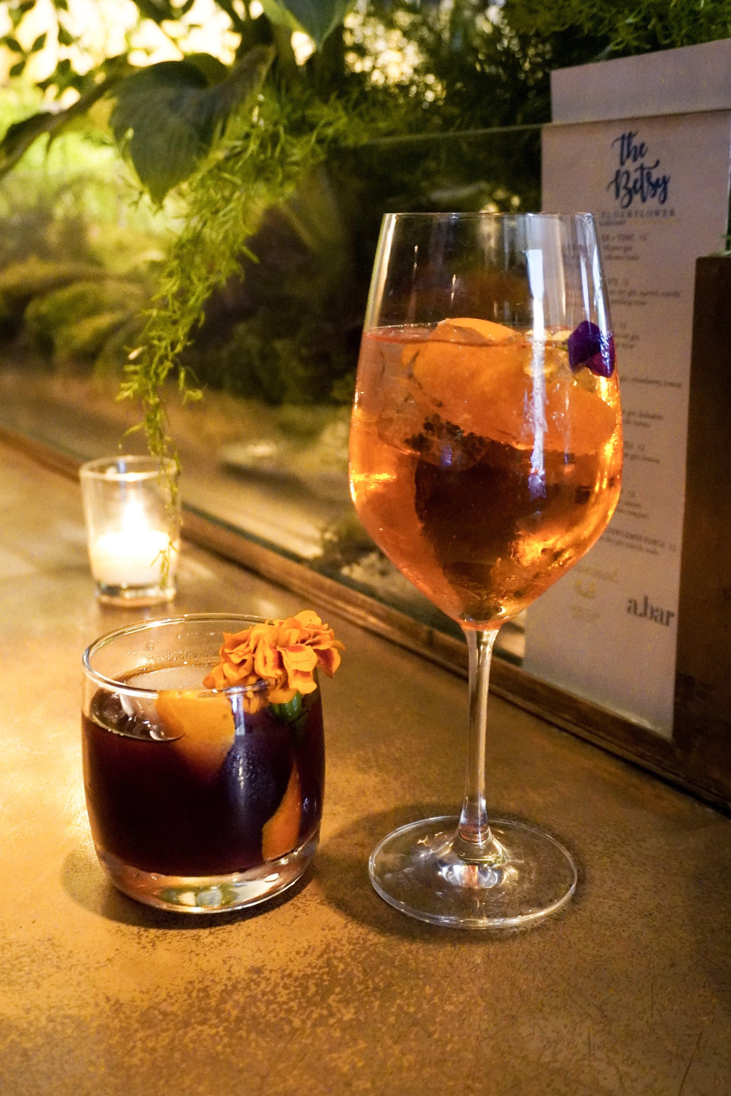 The Library Co and Bluecoat Spritz cocktails