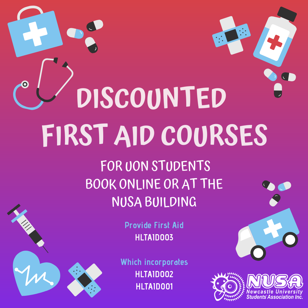 - NUSA offers discount Senior First Aid courses through Business Wise First Aid Training. We organise many courses throughout the year and offer them at a discounted rate for our members. Senior First Aid is extremely important for Nursing students, and any other student who requires the qualification for their job or their degree.