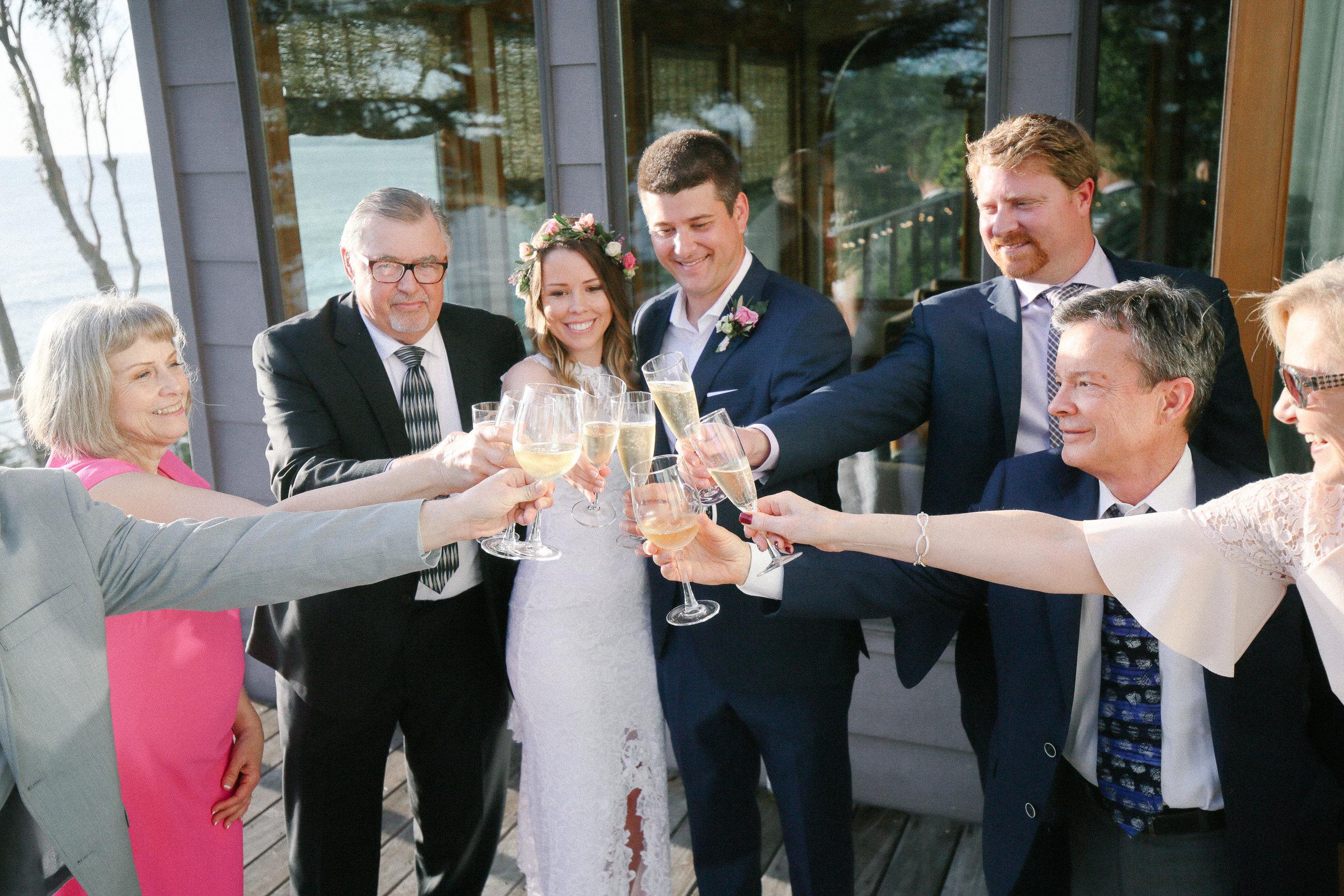 big sur private home wedding