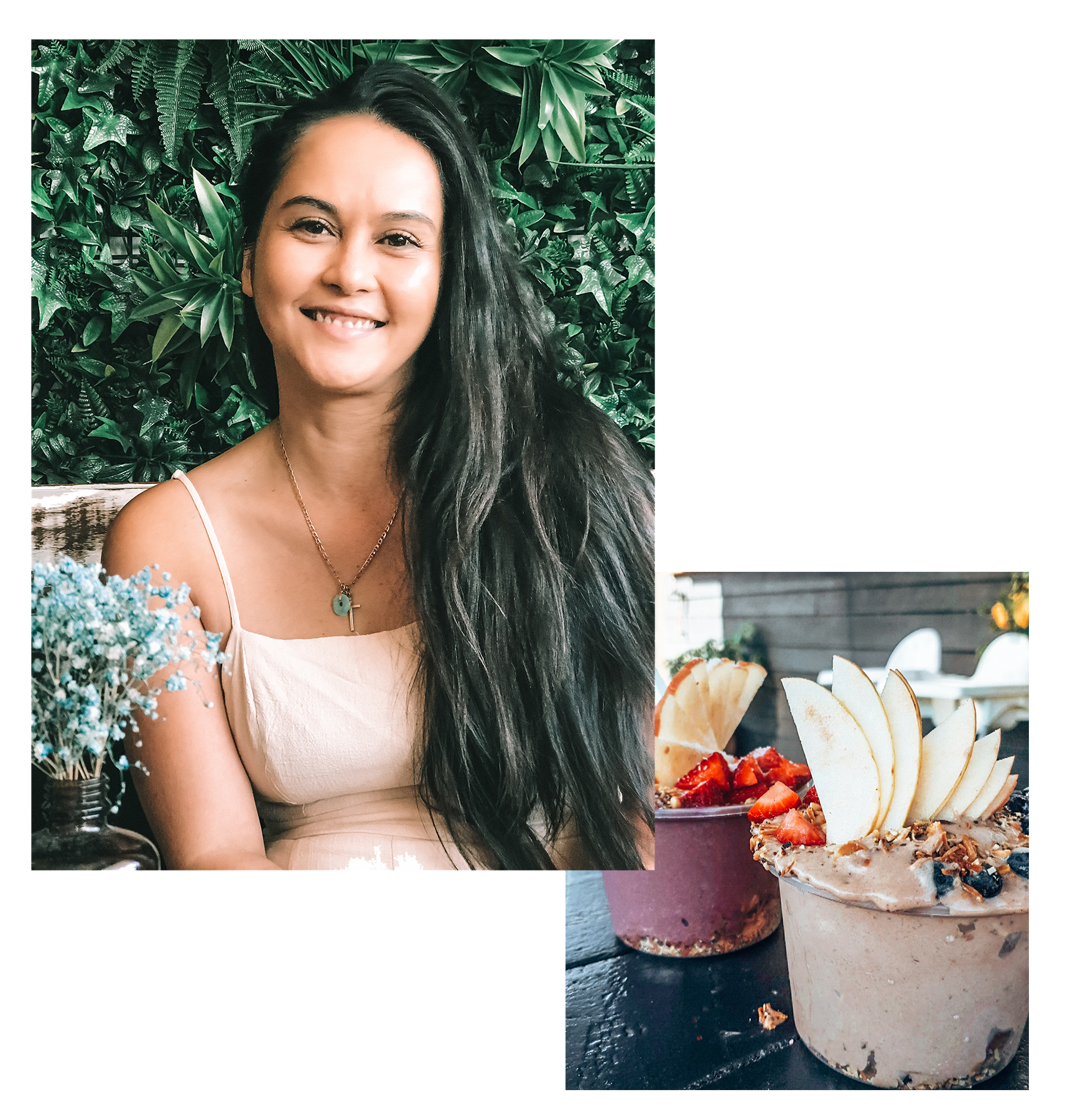 I'm obsessed with overflowing acai bowls, sunny beach walks, my local Thai restaurant, and skin health. -