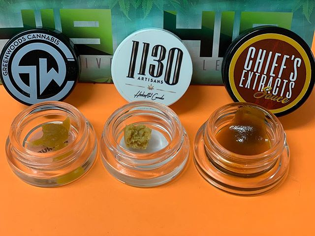 🔥WAX WEDNESDAY🔥  5$ off any wax 25+ ✨  GRAMS STARTING AT 8$ 😱 💥Don't miss out on these amazing deals 💥 • • • • @greenwoods_cannabis @1130artisans @chiefs_extracts  #dabs #wax #deals #pasadena #420 #stoner