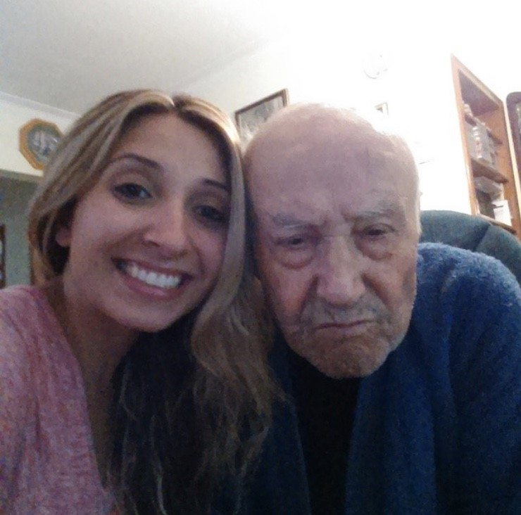 Cristina and her grandfather