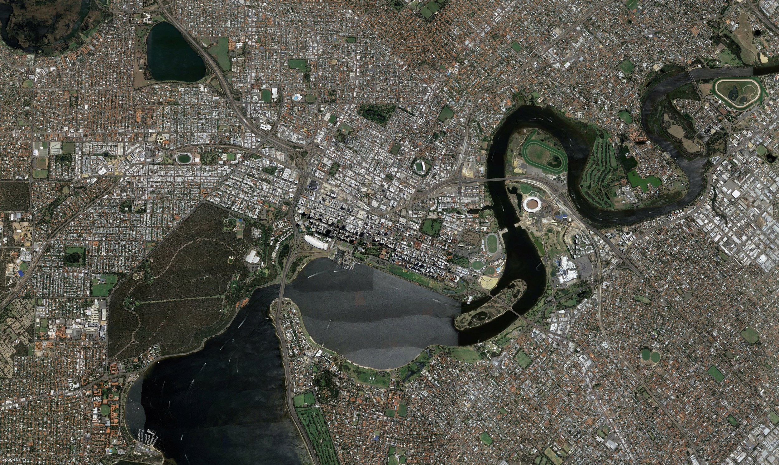 The City of Perth (Google Earth Pro)
