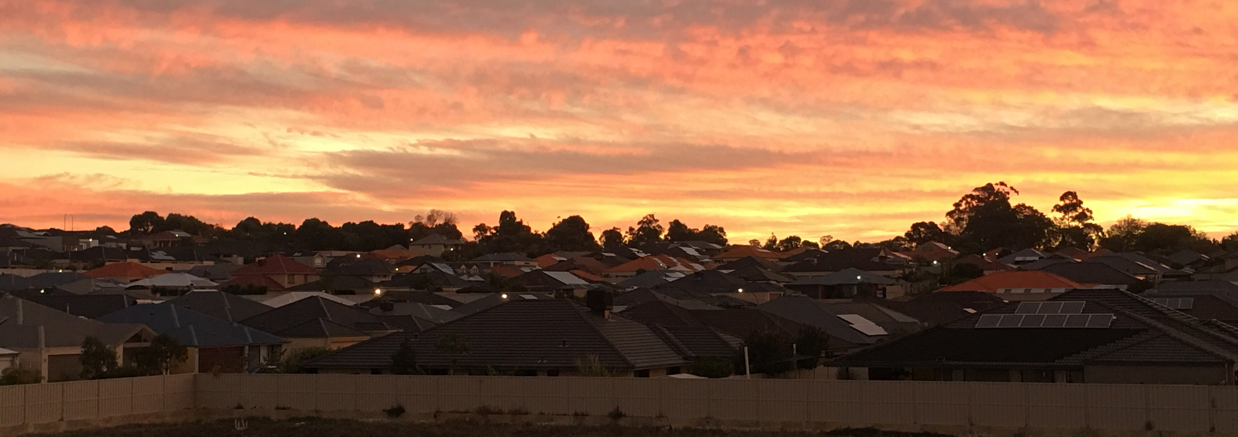 Suburban sprawl in northern Perth