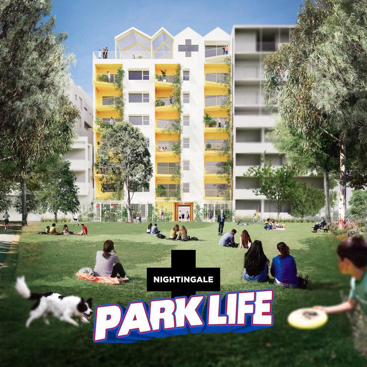 AMA's Nightingale Village project, ParkLife (image courtesy of Austin Maynard Architects).