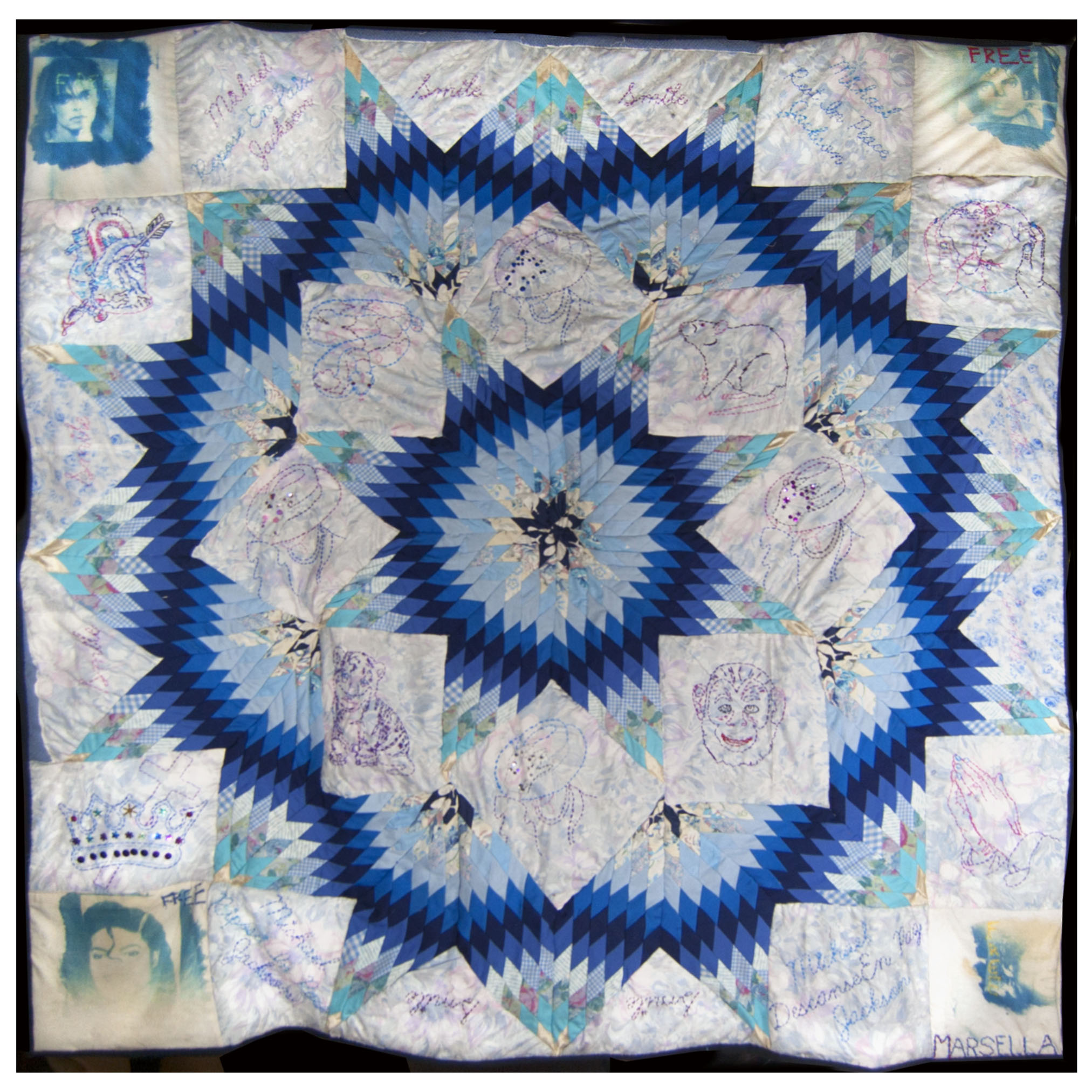 Mourning Quilt for Michael Jackson