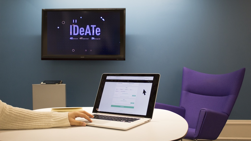 IDEATE Installation— Connected Experiences Online    service Design, graphic design, visual design