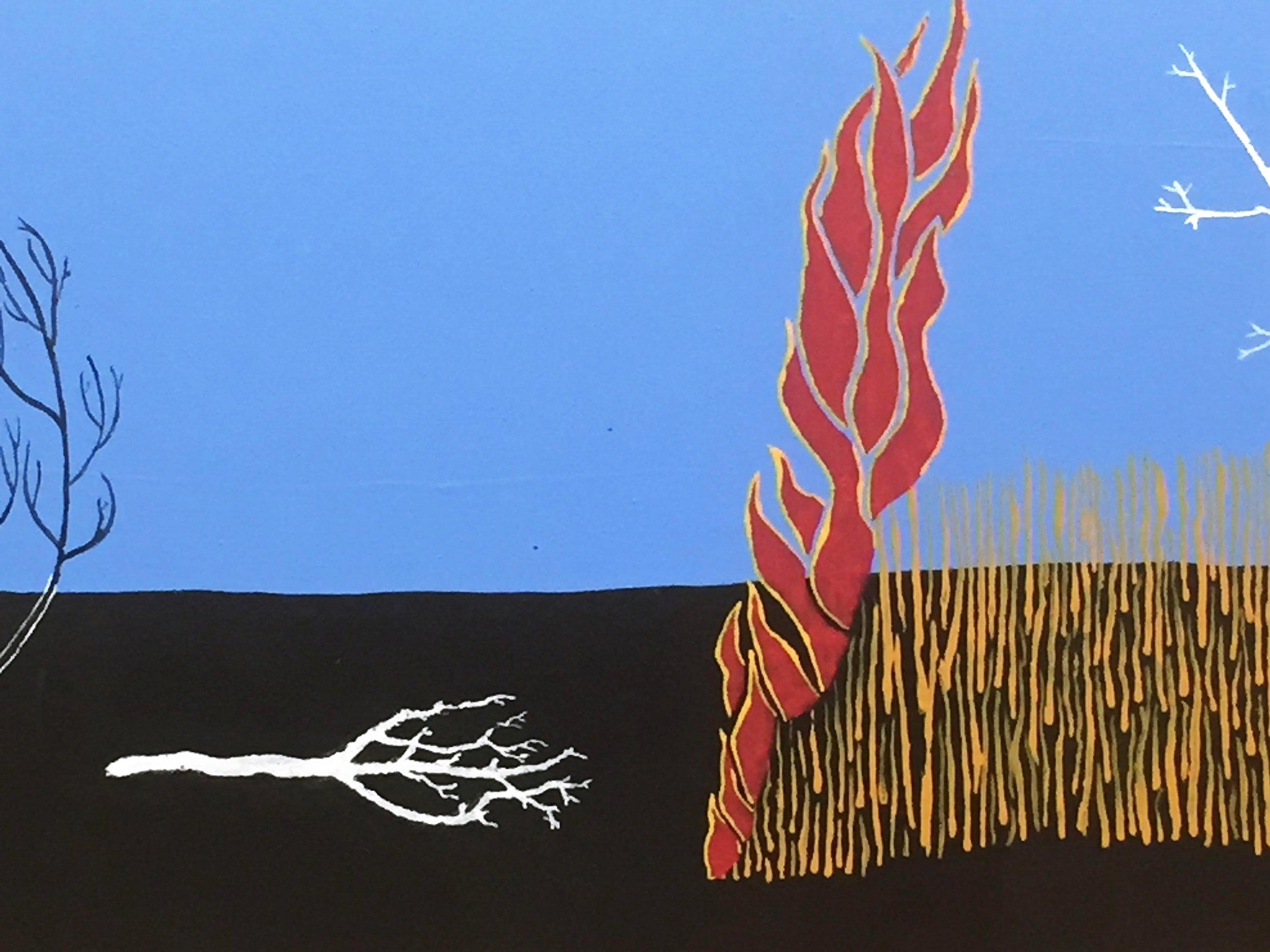 Colin Clarke FIRESTICK 2017 Geraldton artist