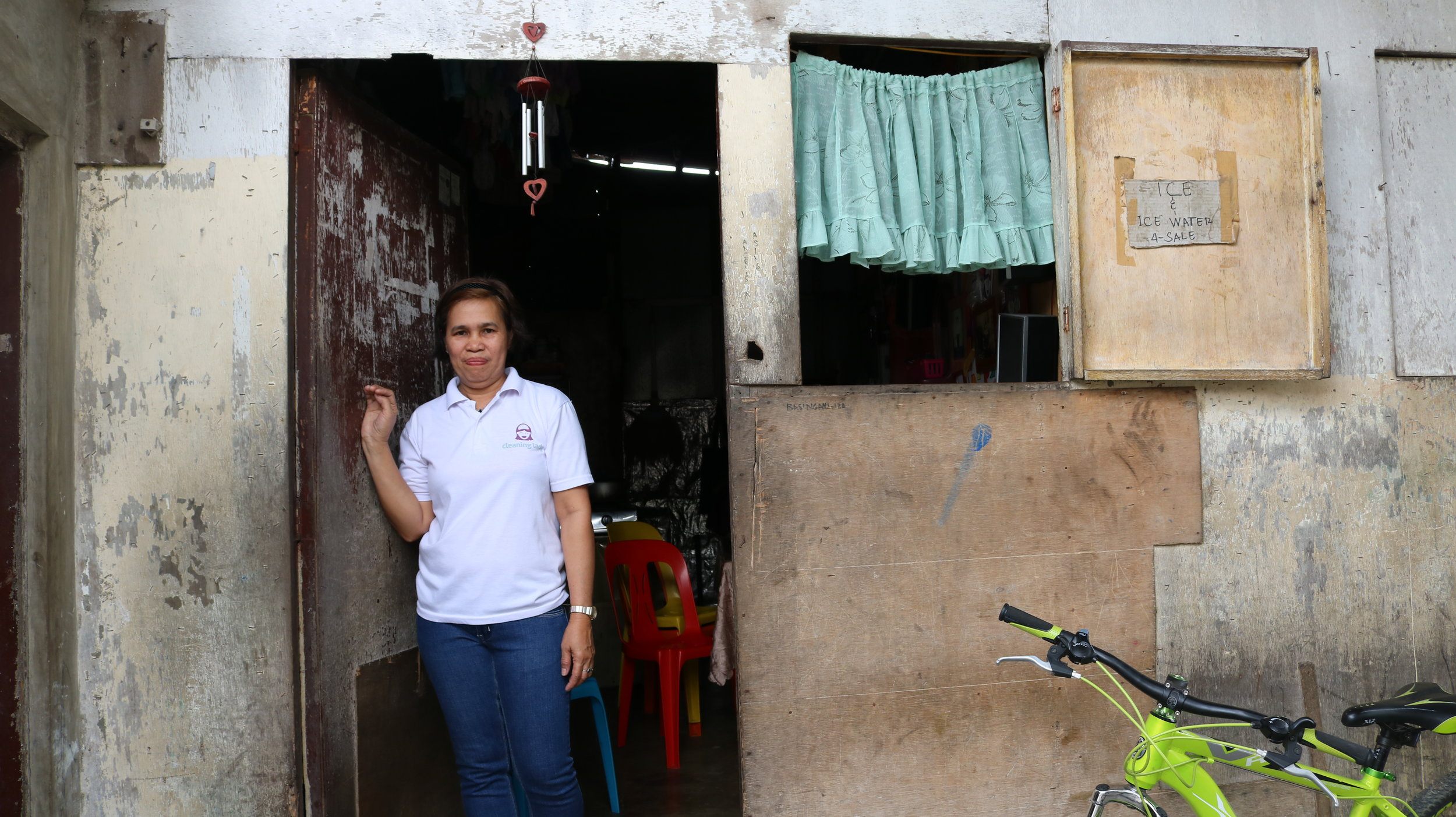 Rosemary Evangelista is part of the first batch of Cleaning Ladies and has been with the company for over two years now. She lives in Gawad Kalinga (GK), Manggahan, Parañaque, one of Cleaning Lady's partner communities.