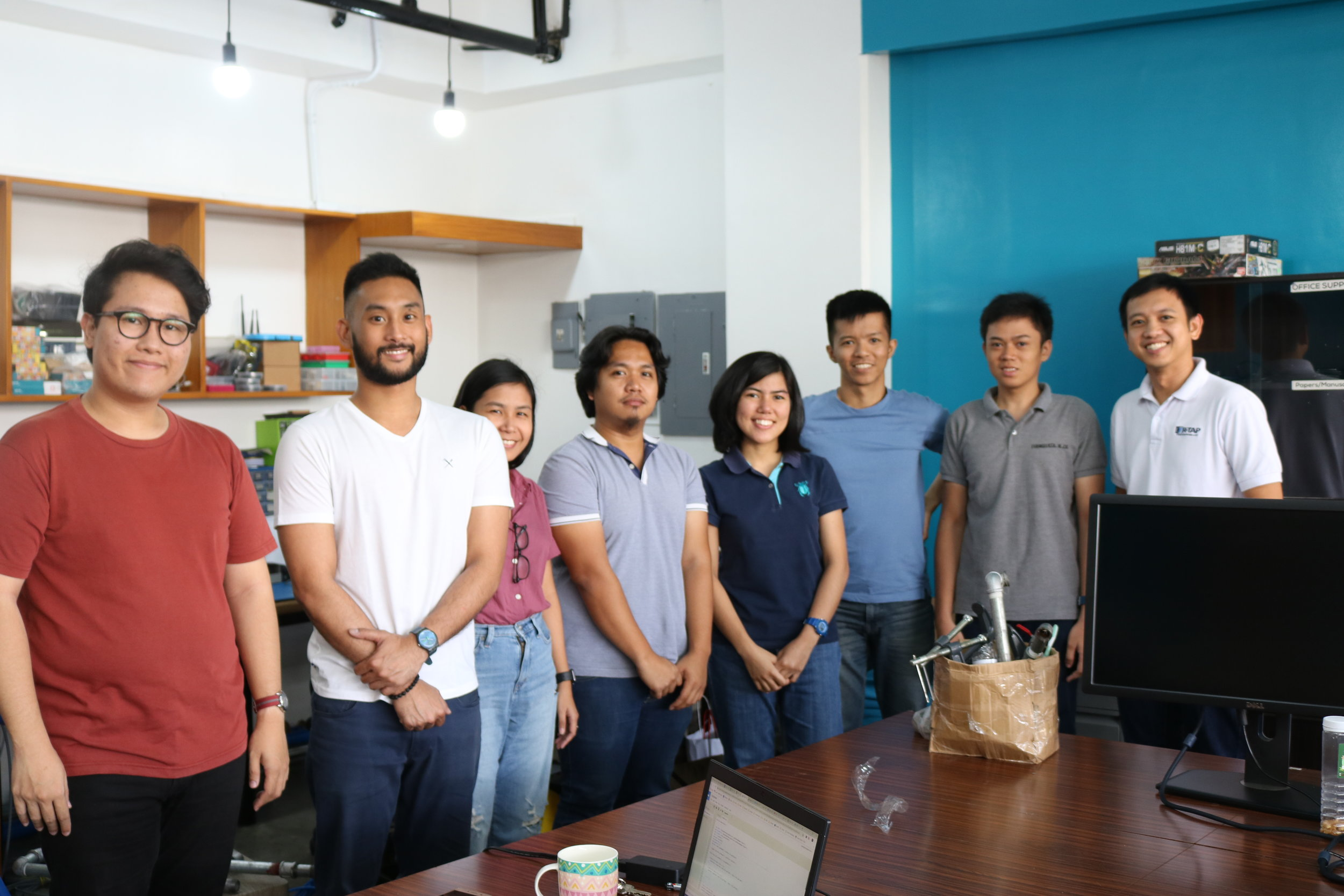 The ISIP team with Hiraya Water's founders and core team at their headquarters in Quezon City