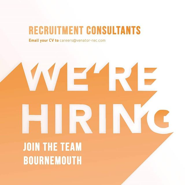Fancy working with a fantastic team in a thriving, forward-thinking recruitment company!? We're looking to add to our newly renovated Bournemouth office. Perks of the job include an unrivaled commission structure, fantastic offices, unlimited holiday, company shares as well as a brilliant chance to thrive and to create your own path within the company.  Ideally, you'll have recruitment experience but we're open to meeting the right individual! Fire your CV over to careers@venator-rec.com now and we'll take it from there.  Alternatively, check out our careers page in our bio to learn a little more about life at Venator!
