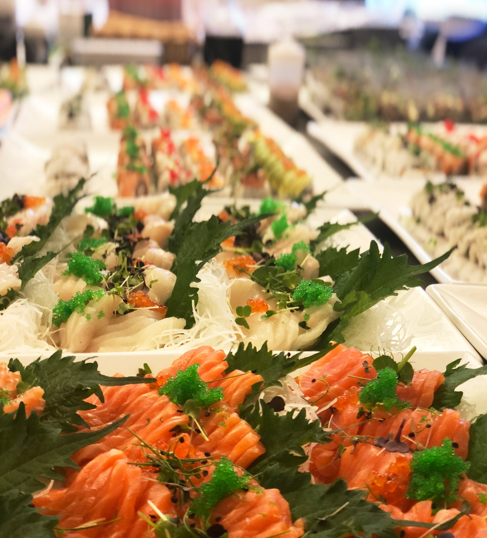 Catering til sommerfest - hos Merkantilbygg AS.