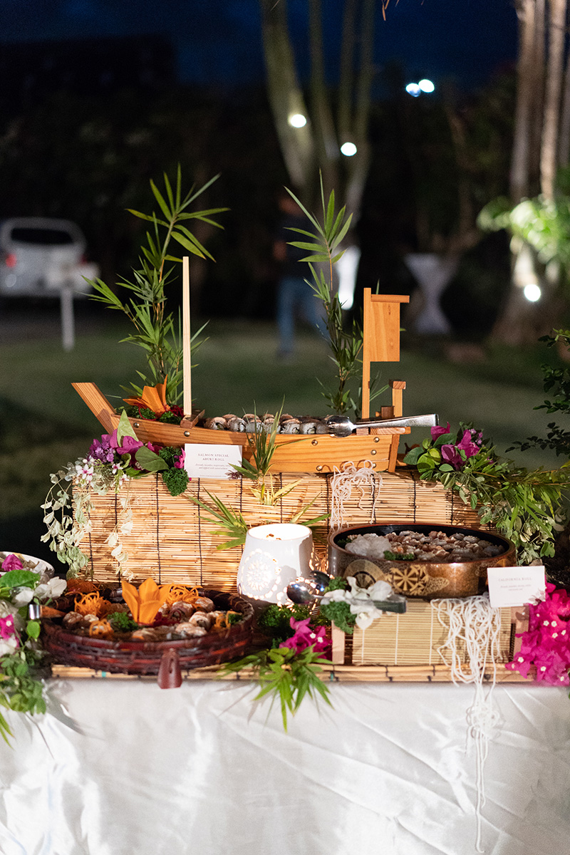 memorable festivity by wedding catering services serving the best japanese food in bali