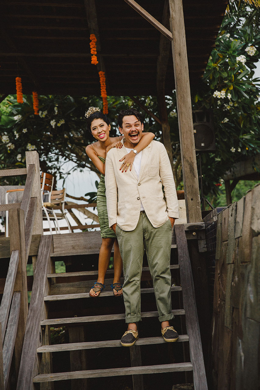 cheerful couple - documented by kaminari wedding catering bali