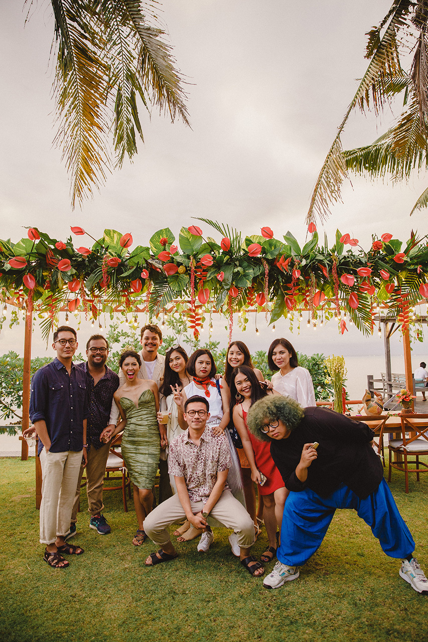 fun-filled moments documented by wedding catering in bali kaminari group