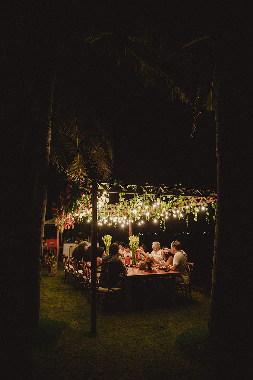 romantic lights by best catering in bali kaminari