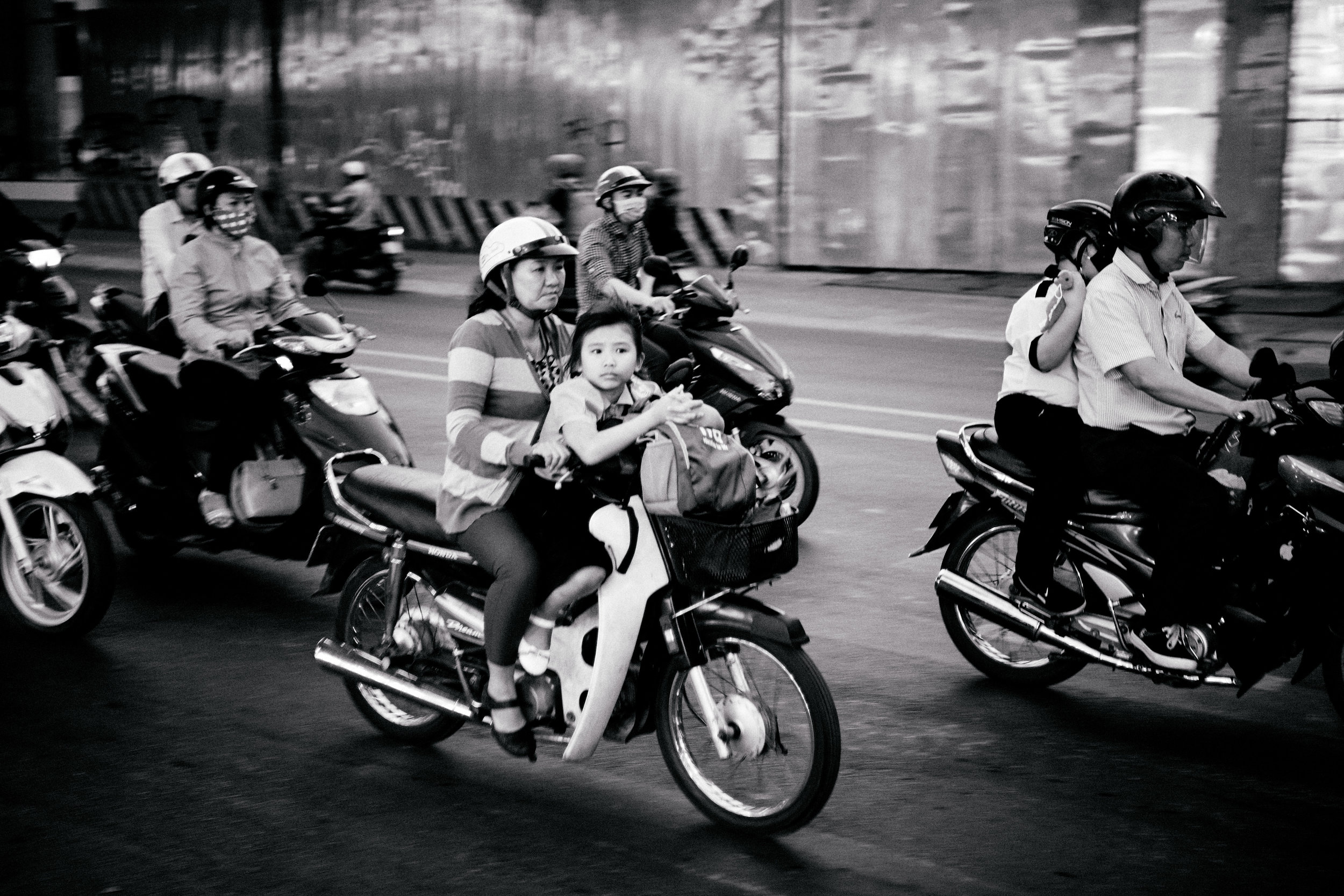traffic . saigon . january 2018