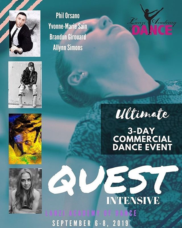 The biggest names in dance will be at Lanzi Academy of Dance for a Ultimate 3-Day Commercial Dance Event September 6-8, 2019. For more information or to register please call 724-438-6911 or email at Lanziacademyofdance@gmail.com #lanziacademyofdance #uniontownpa