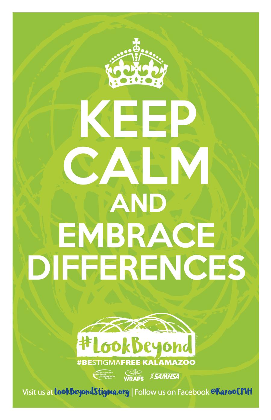 #LookBeyond Keep Calm Poster Green