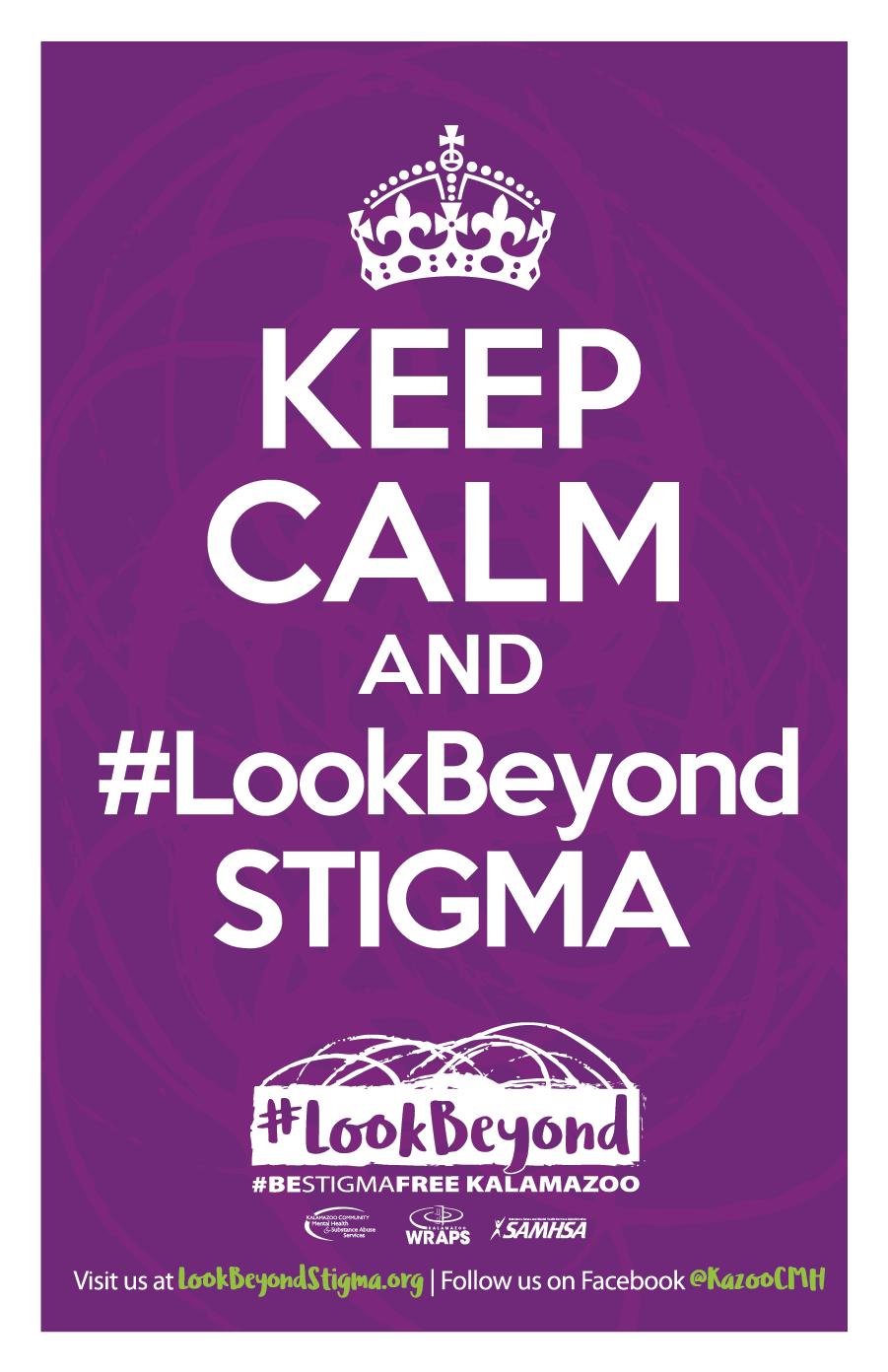 #LookBeyond Keep Calm Poster in Purple