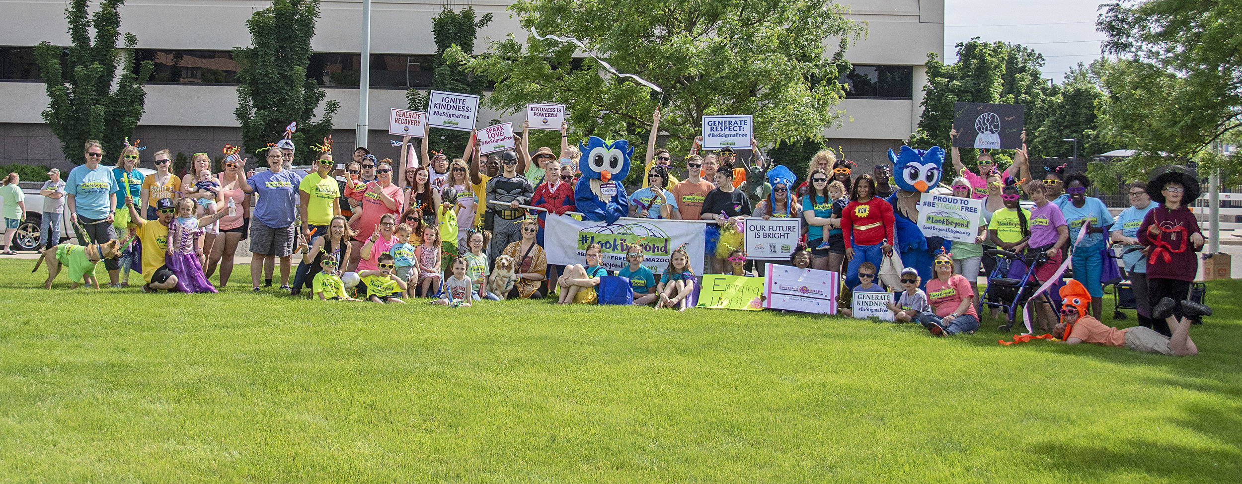 """Our marchers were """"Wired to #BeStigmaFree"""" at the Do-Dah Parade in June."""