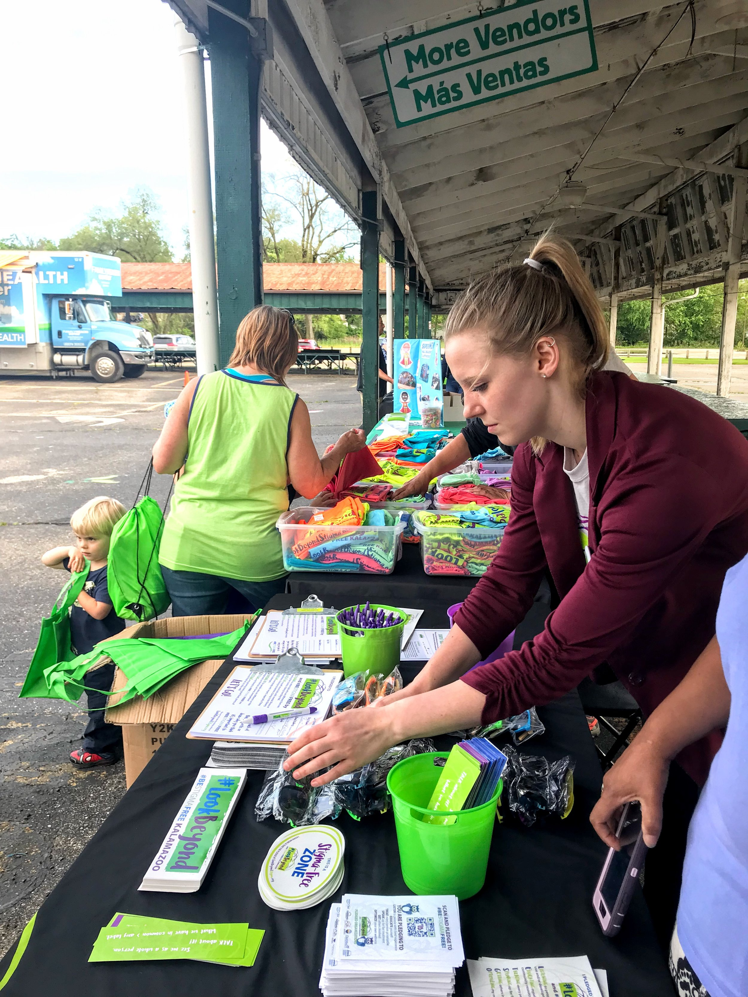 Repping #LookBeyond during the Kalamazoo RESA Head Start Family Resource Night at Bank Street Farmers Market.