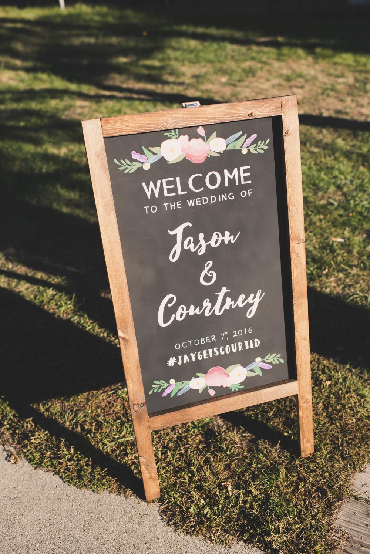 Wedding Welcome Sign Chalkboard