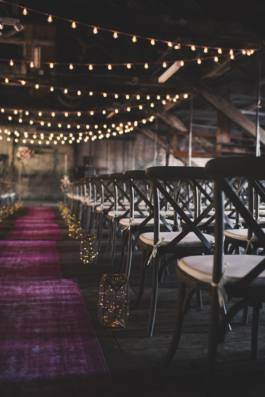Oriental Fuschia Rug for Wedding Aisle